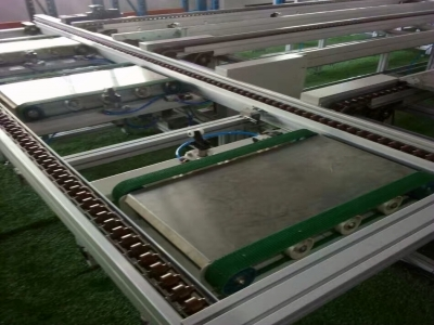 Double speed chain automation line